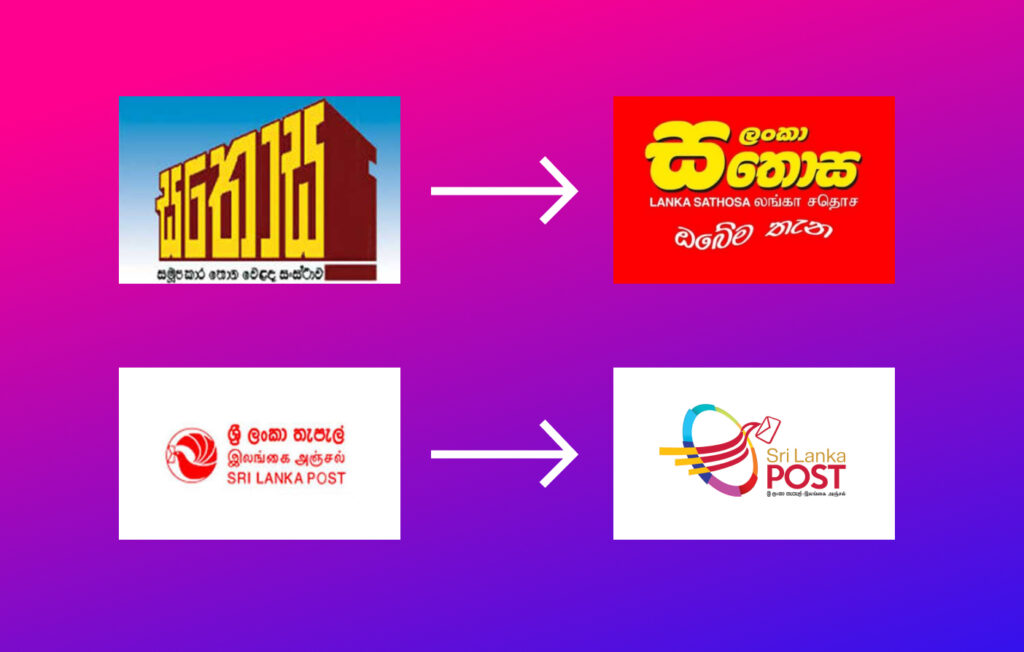 SriLankan graphic design logo changes