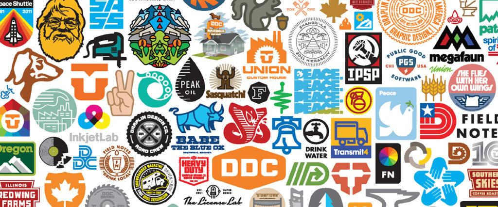 A selection of logos designed by Aaron Draplin