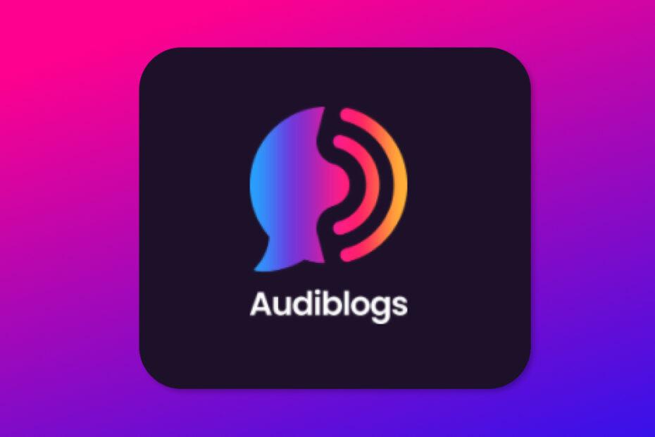 audiblogs feature